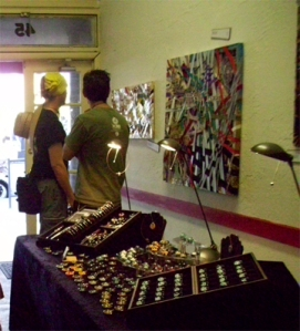 Local Ribbon Art and Blown Glass on Sale